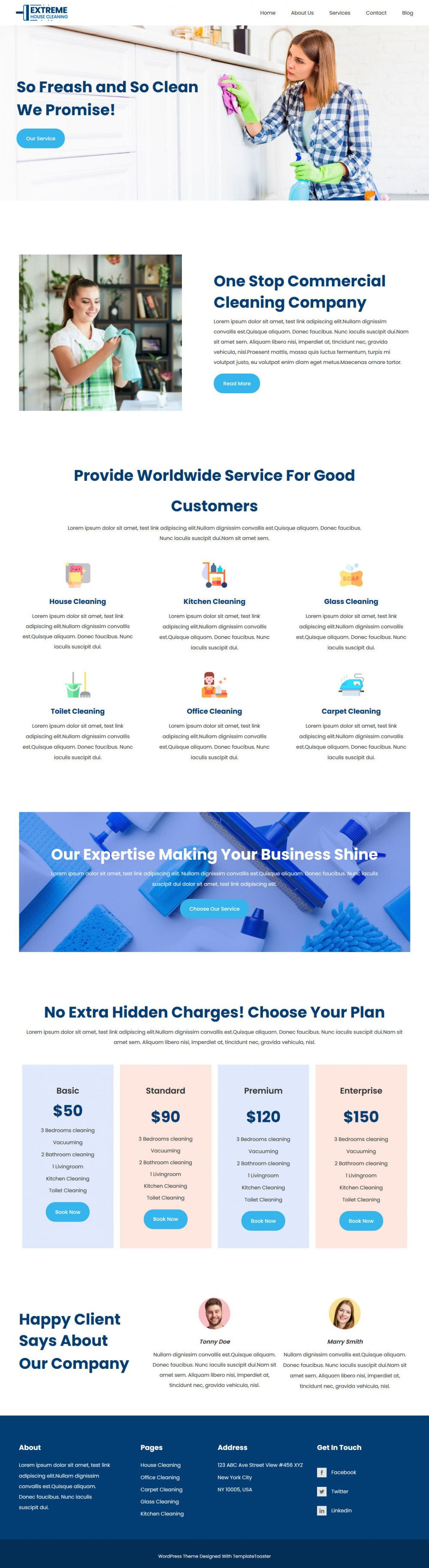 extreme house cleaning company html template