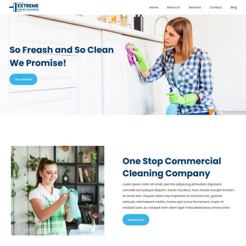extreme house cleaning company joomla template
