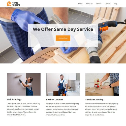 home repairo repair and maintenance services blogger template