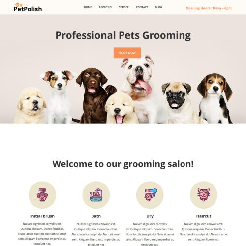 petpolish pet cleaning and care services html template
