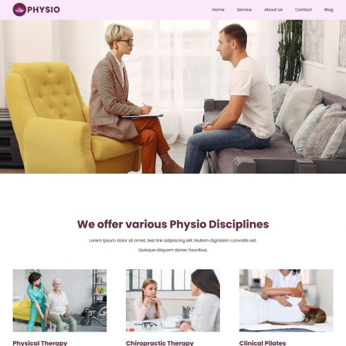 physio physiotherapist blogger template