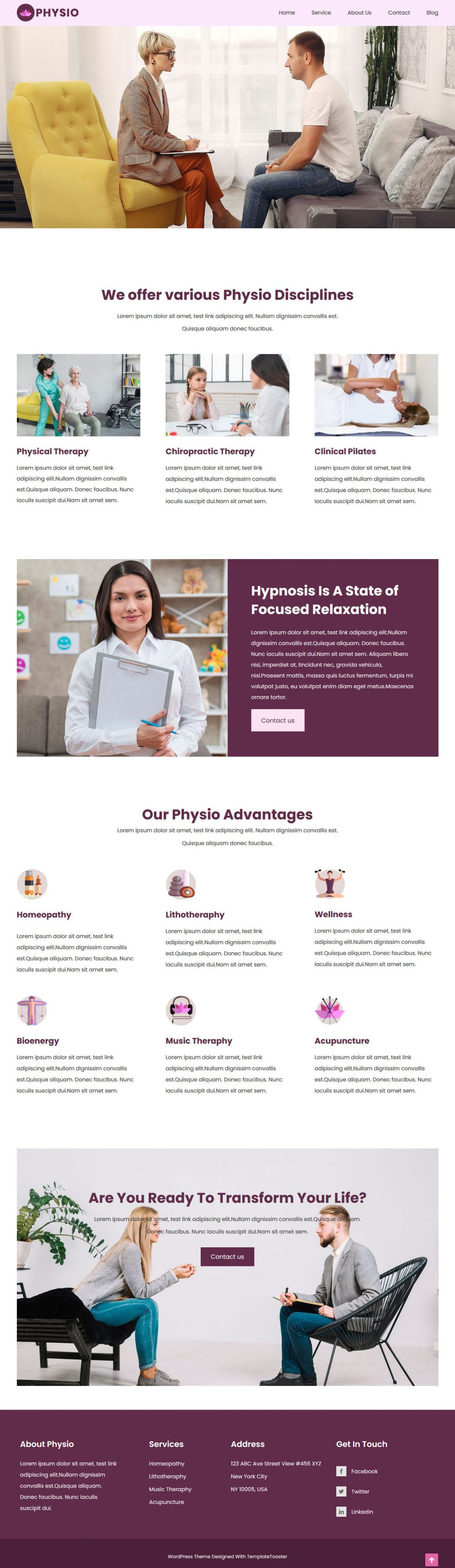 physio physiotherapist html template