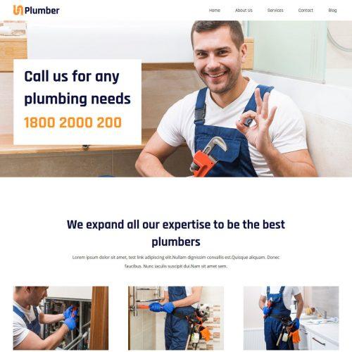 plumber plumbing wordpress theme