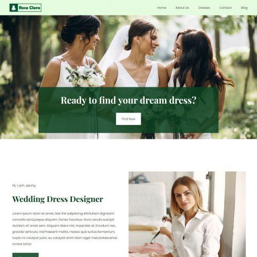 rosa clara wedding dress designer joomla template