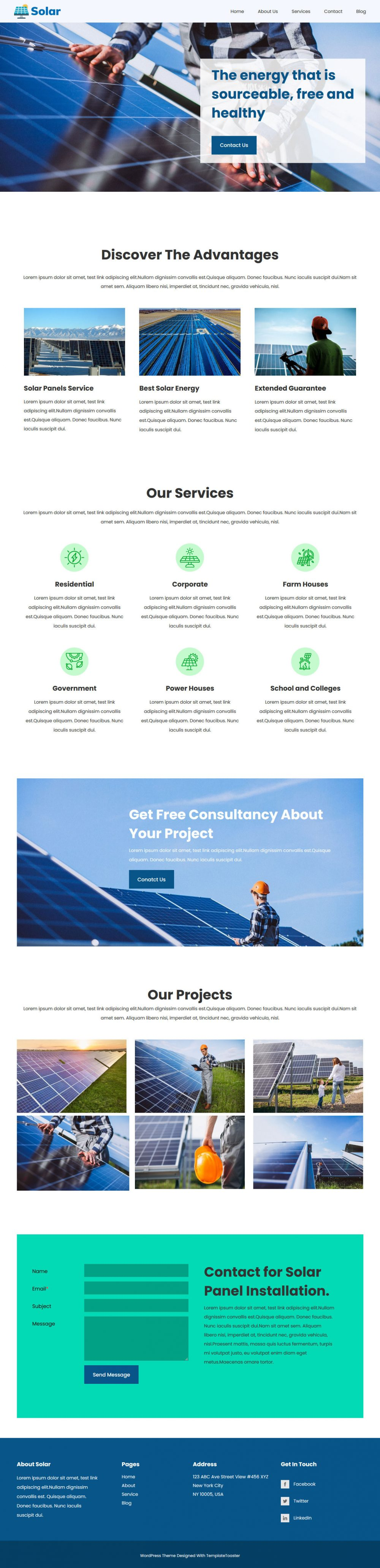 solar and renewable energy blogger template