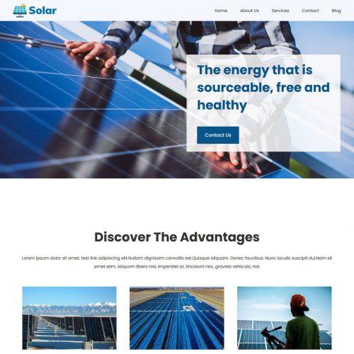solar and renewable energy wordpress theme