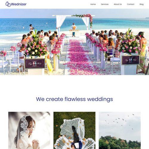 wednizer wedding organizer agency wordpress theme
