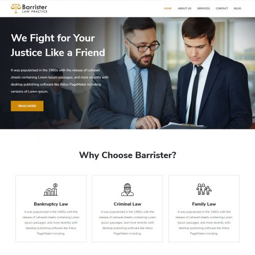 Barrister - Law Practice Joomla Template
