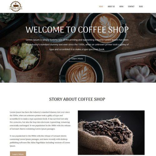 Coffee Shop - Restaurant & Cafe Joomla Template