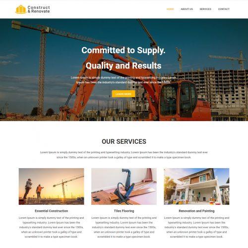Construct & Renovate -- Construction Company Drupal Theme