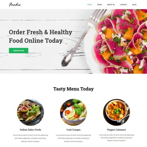Foodie - Restaurant & Cafe WordPress Theme