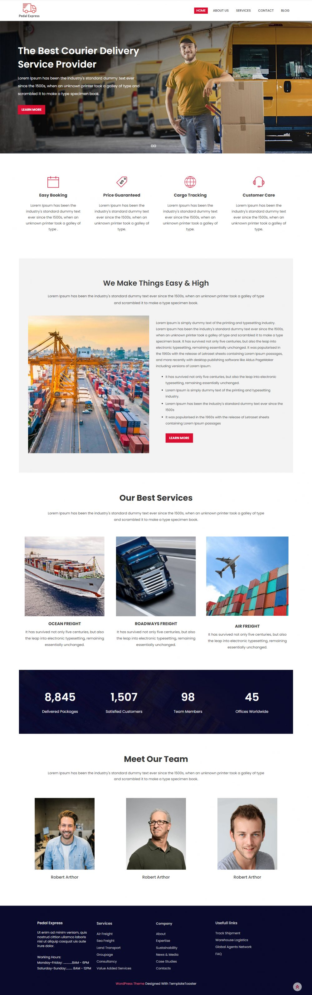 Pedal Express - Courier & Delivery Service Drupal Theme