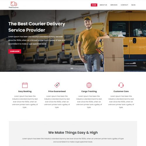 Pedal Express - Courier & Delivery Service Joomla Template