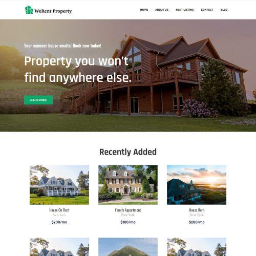 Rent Property - Real Estate & Property Rent Service Joomla Template
