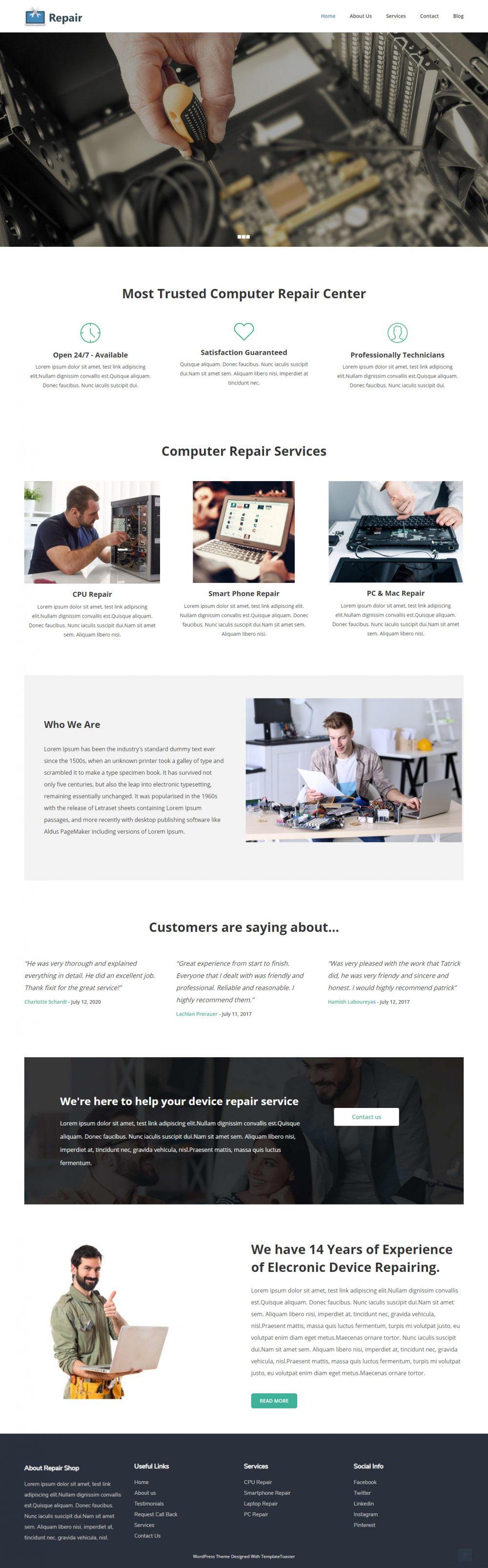 Repair - Computer Repair & Mobile Repair Service Blogger Template