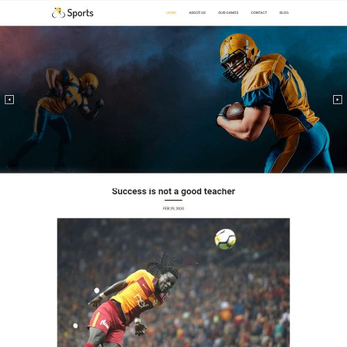 Sports - News & Updates WordPress Theme
