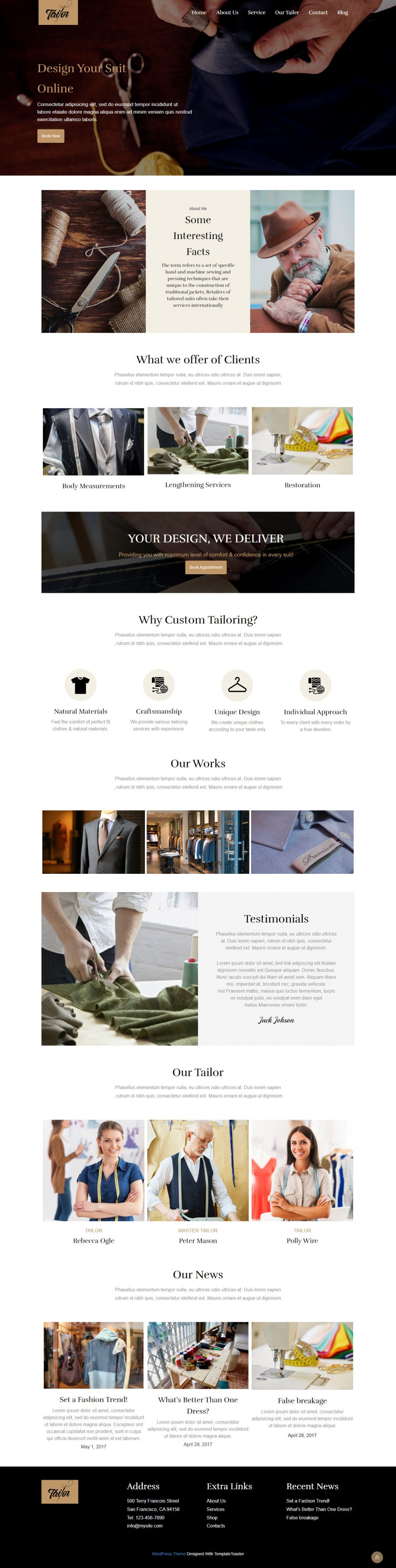 Tailor Shop Joomla Template