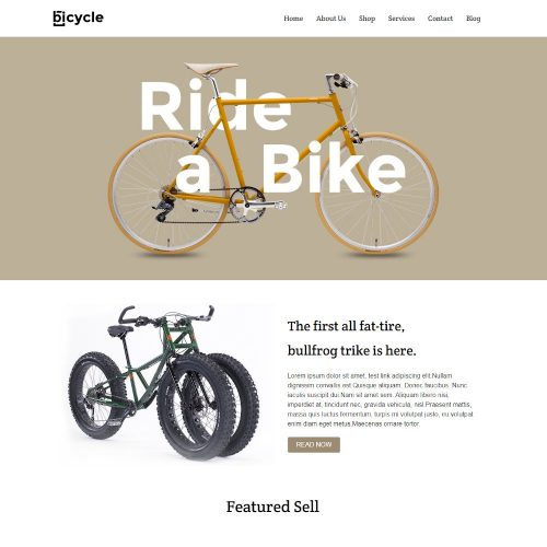 Bicycle - Online Cycle Store WordPress Theme