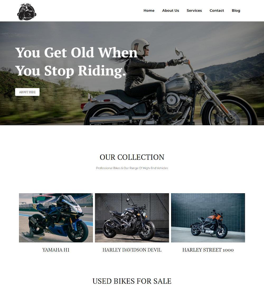Bike Rider - Motorcycle Lover WordPress Theme