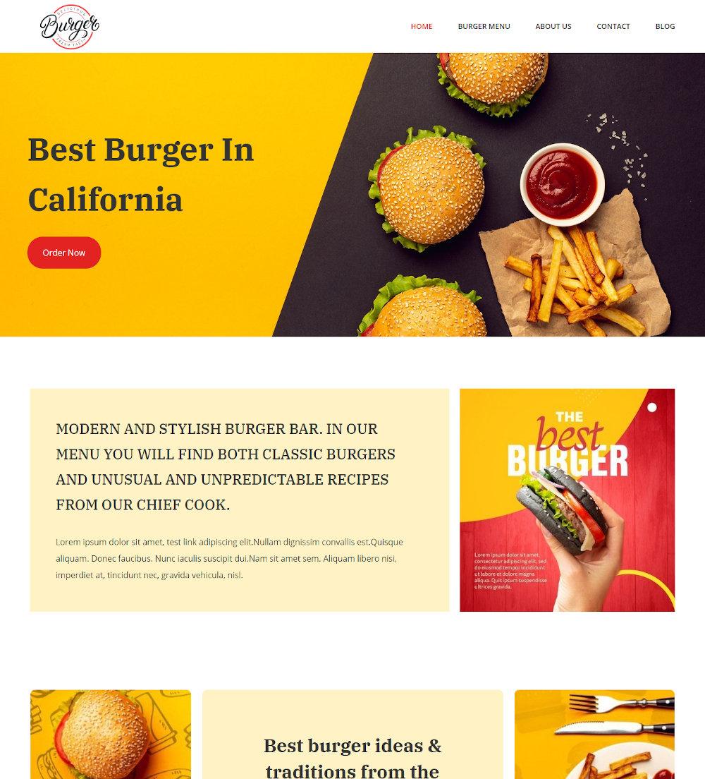 Burger Shop - Burger Cafe Drupal Theme