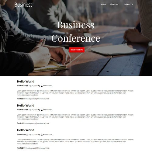 Businest - Business Events & Conference Blogger Template