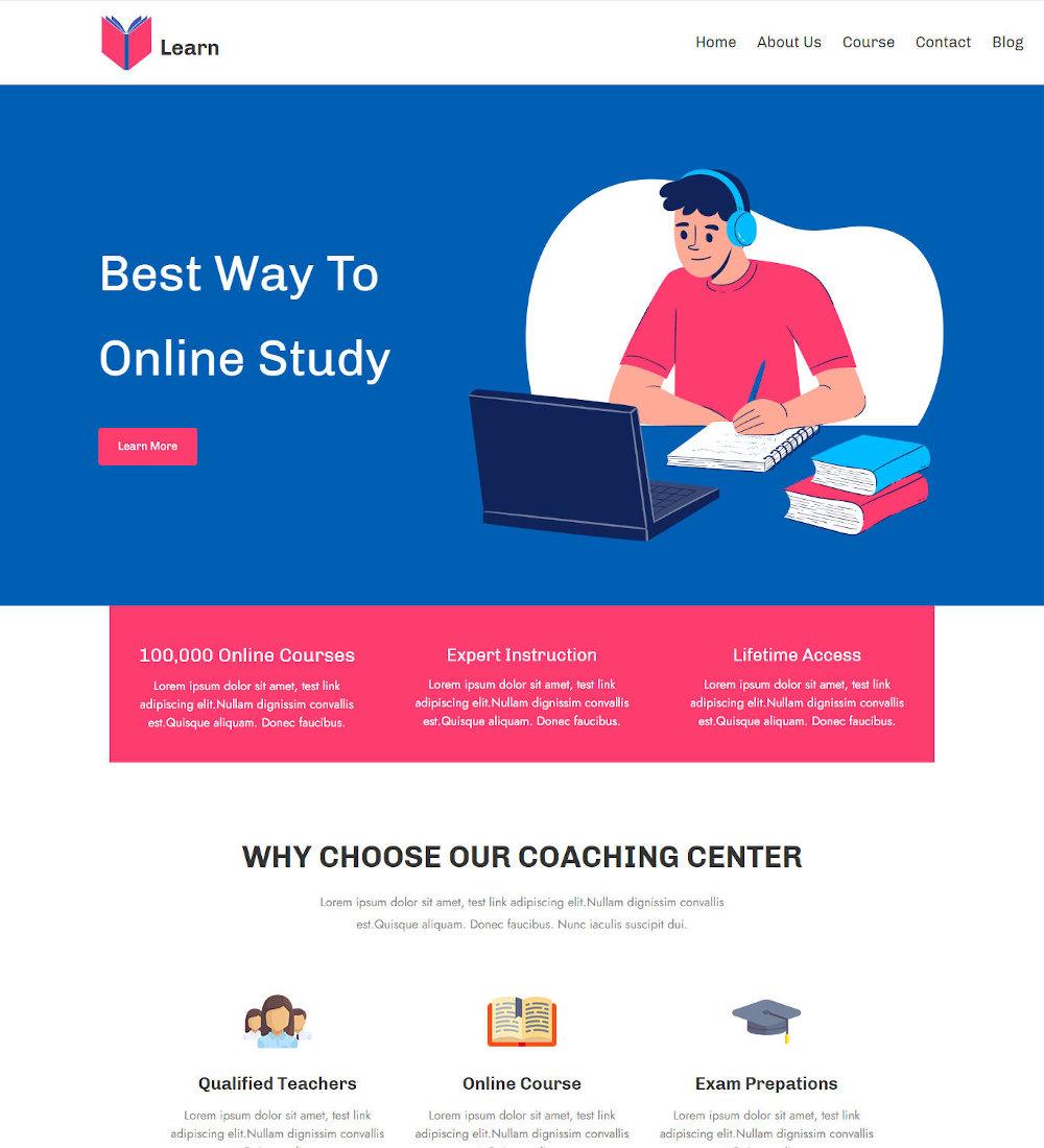Coachat - Coaching Center WordPress Theme