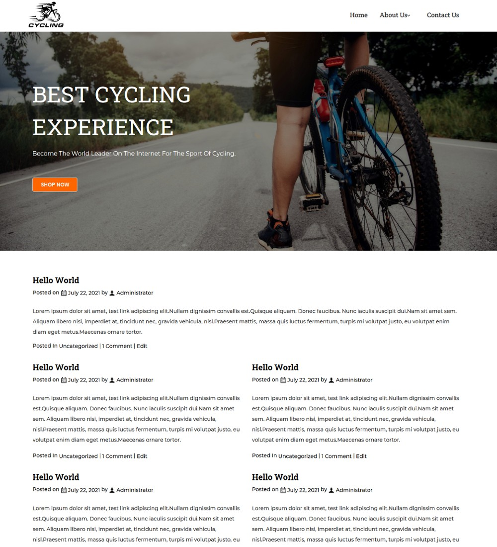 Cycling - Bike & Cycle Riding Event Blogger Template