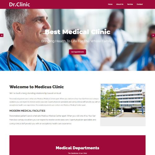 Dr. Clinic - Doctor and Hospital Health HTML Template