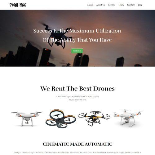 Drone King - UAV Drone WordPress Theme