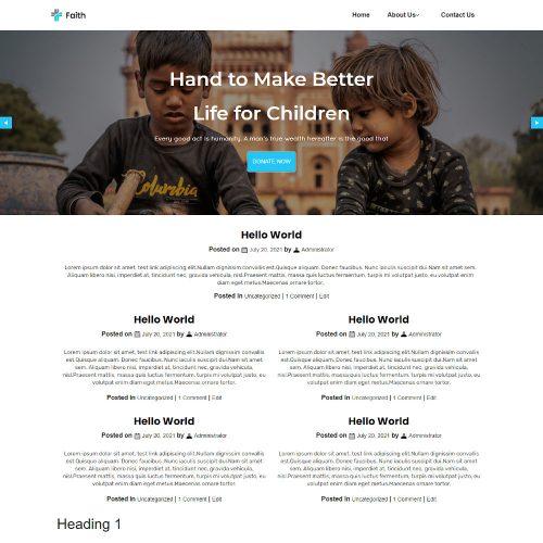 Faith - Charity and Donation Blogger Template