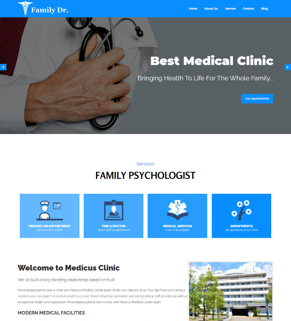 Family Dr. - Doctor and Hospital Health Drupal Theme