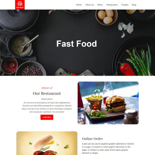 Fast Food Online Delivery & Restaurant WordPress Theme