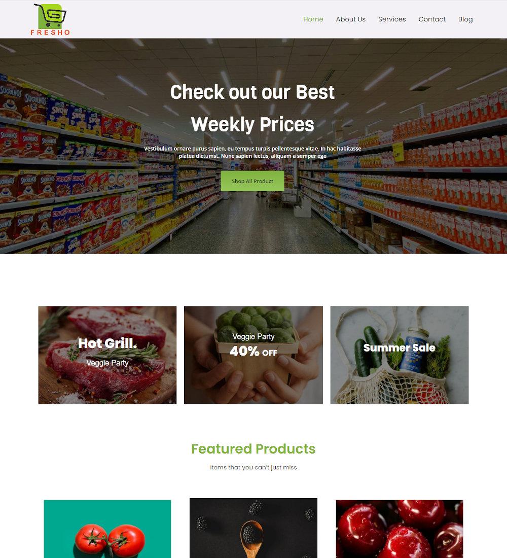 Fresho - Grocery and Food Store WordPress Theme