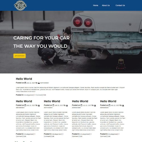 Garage - Auto Service and Car Repair Blogger Template