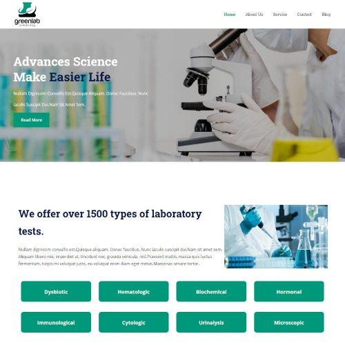 Green Lab - Laboratory & Research Drupal Theme