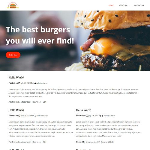 Grill Burgers - Burger Cafe Blogger Template