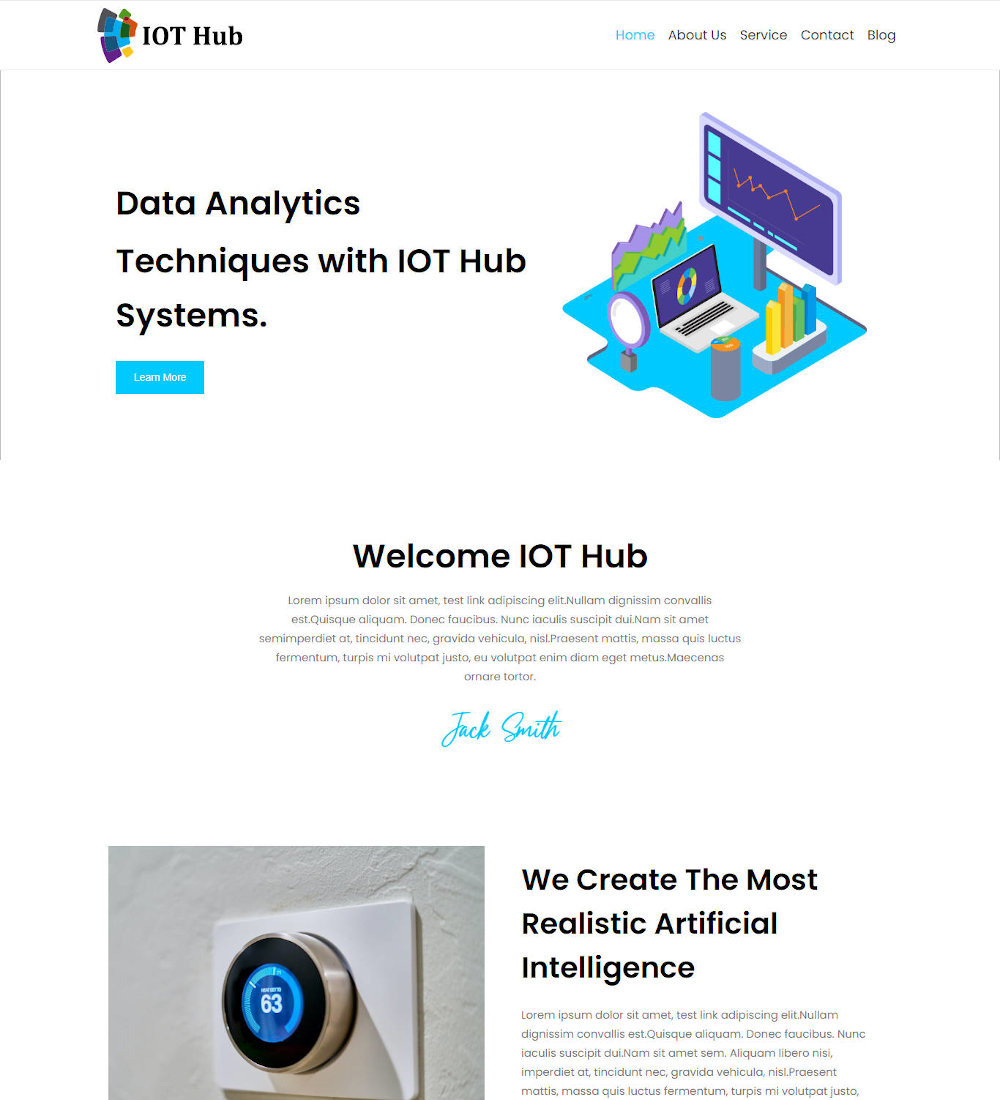IOT Hub - Internet of Things WordPress Theme