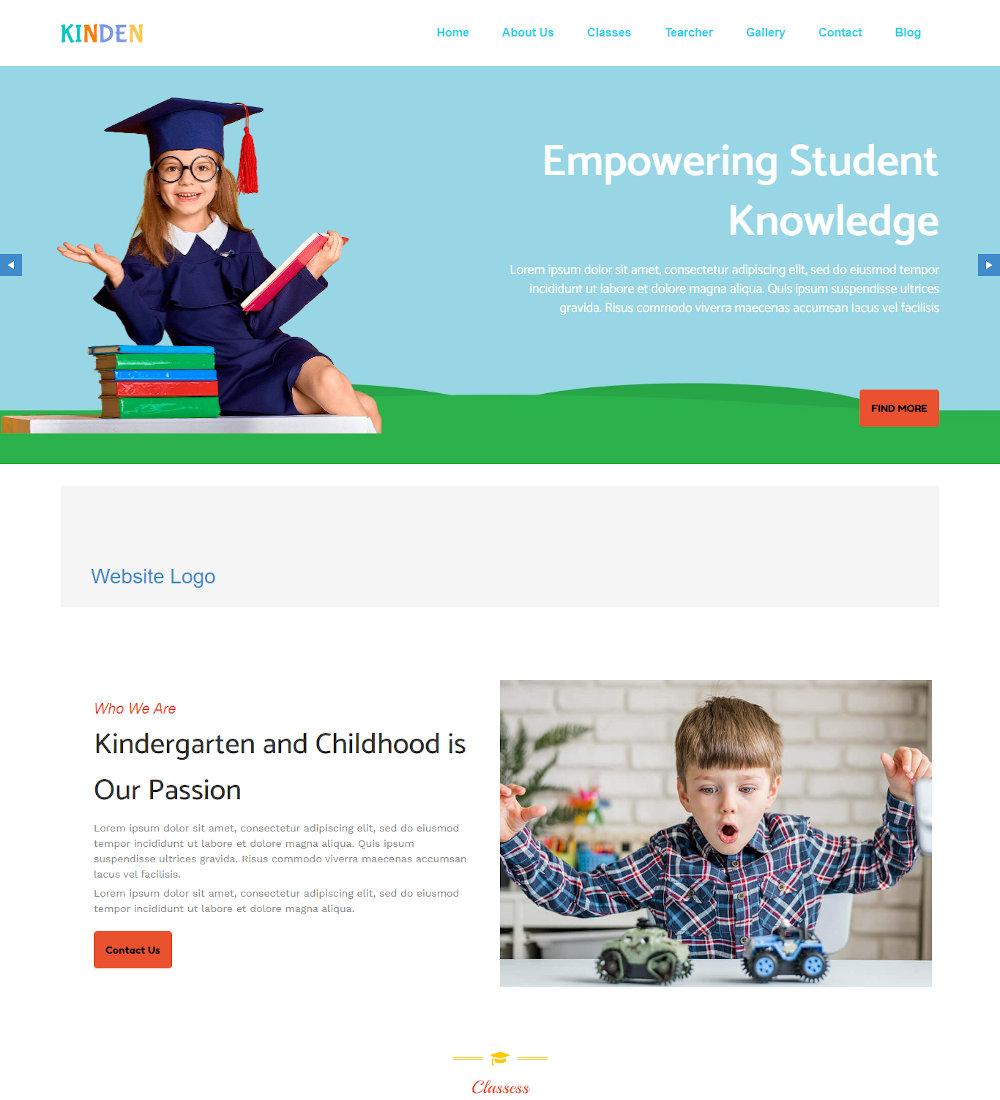 Kinden - Day Care & Kindergarten Drupal Theme