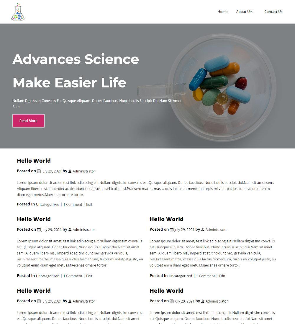 Labcruit -Laboratory & Research Blogger Template