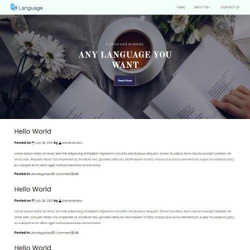 Language School Blogger Template