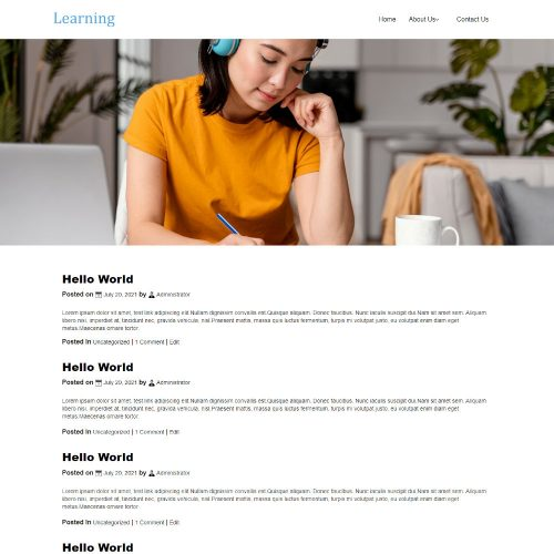 Learning - Education and Training Institute Blogger Template