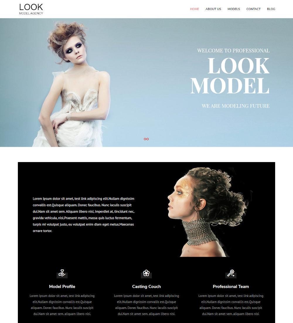 Look - Fashion Model Agency Drupal Theme
