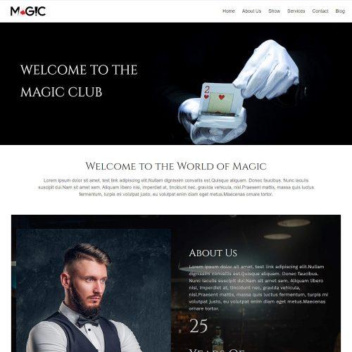 Magic - Magician Artist & Performer Drupal Theme