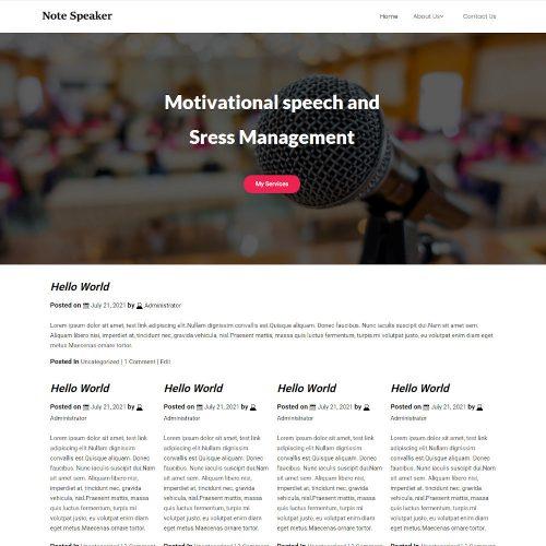 Note Speaker - Innovation & Inspiration Speaker Blogger Template