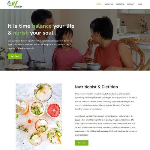 Nutrition Diet Health Care Advisor Drupal Theme