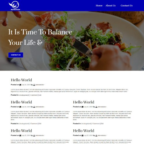 Nutrition - Nutrition Health Professionals Blogger Template