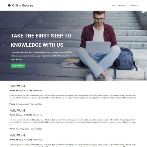 Online Course - Education & Coaching Blogger Template
