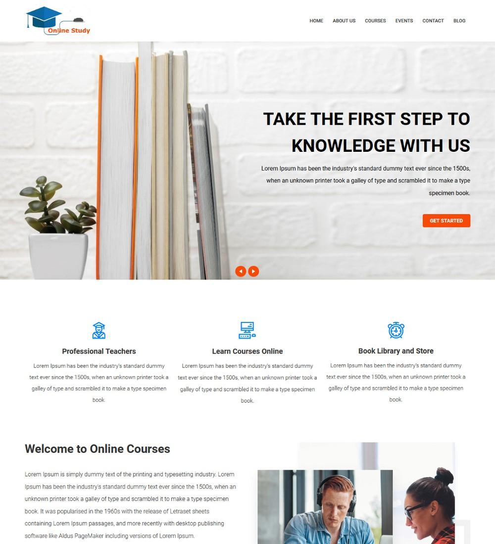 Online Study Education Coaching Drupal Theme