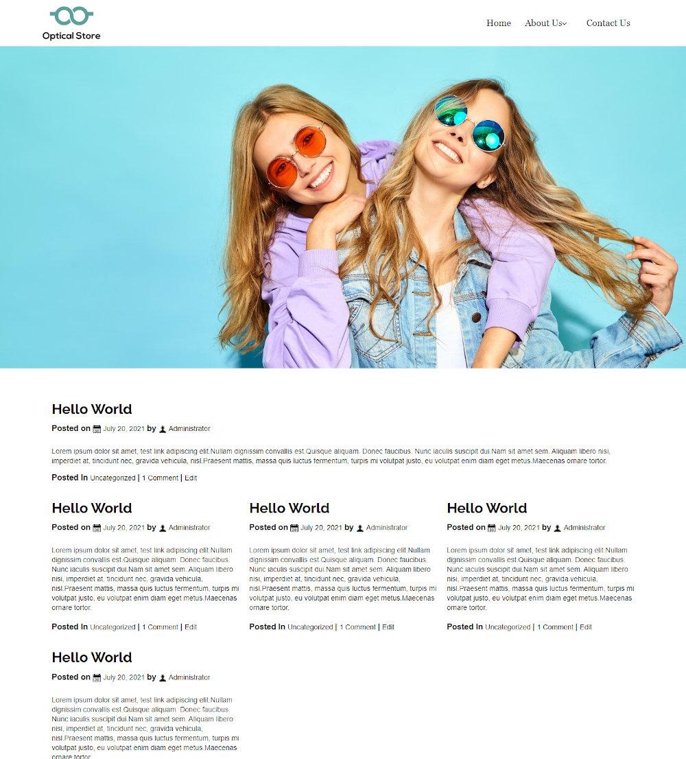 Optical Store - Optometrist & Eye Care Blogger Template