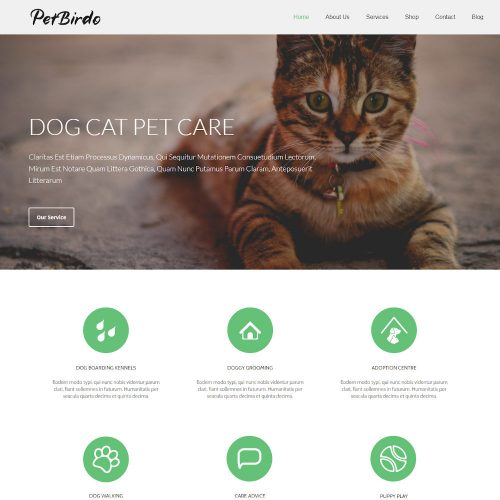 Pet Birdo Pet Care & Clinic Drupal Theme